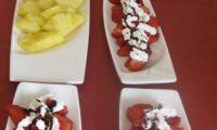 Strawberries and pinapple