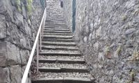Via alla chiesa stone stair